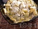 Рецепта Салата от зелен боб с бял дресинг / сос от сусамов тахан